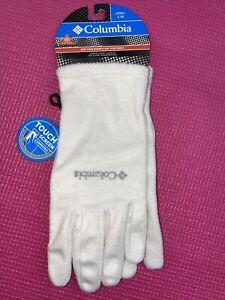 NWT Columbia Women Agent Heat III Omni Heat  fleece gloves off white large