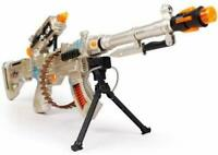 Burning Spin 3 Toy Military Machine Gun With Sound And Light Vibration xmas Gift