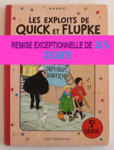 Les exploits de Quick et Flupke 5 ème série (Français) Album - RABAIS 20% déduit