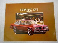 Advertising Brochure 1977 Pontiac Ventura GM Chev Dealer Advertising