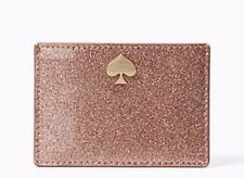 Kate Spade New York NWT Glitter Bug Graham Credit Card Holder Rose Gold $69