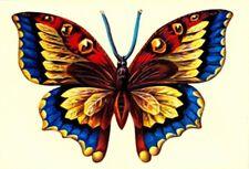 5062 EF Glanzbilder Schmetterling Aufstellkarte Poesie Nostalgie Klappkarte