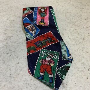 Christmas Neck Tie Business Xmas Tie Santa Christmas Festive. Long tie
