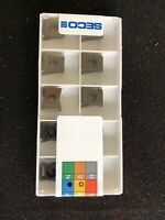 Qty. 10, Seco LOEX120708TR-MD13 MP2500 Coated Carbide Milling Inserts. EDP 52886