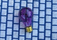 BOX of 4 new } PURPLE 25w transparent PARTY & Sign LIGHT BULB 25 watt 120v 130v