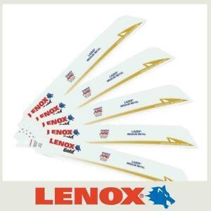 "5 x Lenox Gold 210999118GR 18TPI Metal Cutting Reciprocating Saw Blades 9""/229mm"
