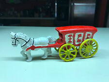 Cast Iron Horse Drawn Ice Delivery Cart Wagon Toy