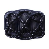 Women Retro Beads Stretch Double Hair Comb Models The Middle Accessories H