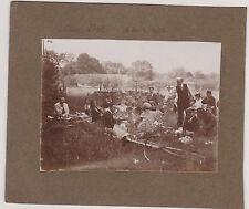BELLES PHOTOGRAPHIES ANCIENNES d'une SCENE DE PIC-NIC (2 photos) SEINE PORT 1928