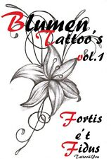 Tattoovorlagen Blumen Flower motive Flash book Dvd Top Motive Tattoobuch cd Neu