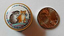 Bilstone & Battecsea -Halycon Days Tiny Enamel Box With Kittens