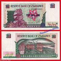 ZIMBABWE 10 dollars dolares 1997 Pick 6 SC / UNC