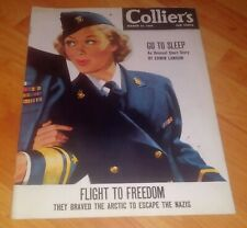Collier's Magazine March 24, 1945 WWII Issue *Flight Freedom from Nazis*