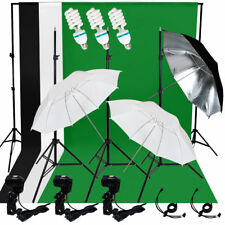 Photo Studio Continuous Lighting Photography Muslin Backdrop Light Stand Kit