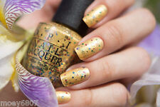 OPI PINEAPPLES HAVE PEELINGS TOO! Yellow Gold w/ Multi Glitter Nail Polish H76