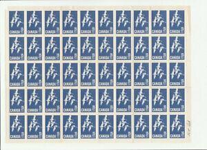 CANADA 1963 #415 Sheet of 50 MNH Unitrade CV $125 as singles
