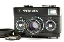 【MINT Meter Works!】 Rollei 35S Black 40mm F/2.8 Sonnar Lens w/ Hood Filter JAPAN
