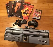 Pioneer LaserActive Laser Disc Player & Mega Drive PAC CLD-A100 Lot Game Movies