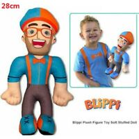 28cm  Kids TV Blippi Plush Figure Toy Soft Stuffed Doll for Children Gift Prop