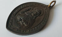 ANTIQUE BRONZE RELIGIOUS MEDAL PENDANT