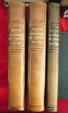Dictionnaire pratique de droit (3 vol.). Sous la dir. de G. Griolet et C. Vergé