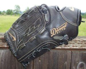 "12"" Nike Diamond Elite Baseball Softball Glove Left Hand Throw BlackLefty"