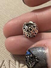 Genuine Pandora 14ct 14k Gold & Silver Swirl Charm 790414
