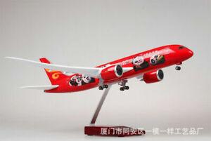 1/130 Resin Aircraft Hainan Airlines Boeing B787 Passanger Model W/ LED Light