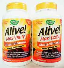 2X (180 +180) tabs Nature's Way ALIVE Multi-Vitamin  MAX POTENCY No Iron Added