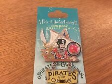 DISNEY WDW PIECE OF HISTORY III PIN PIRATES OF THE CARIBBEAN DANGLE ON CARD