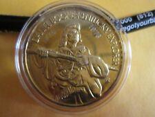 Daniel Boone   1974 1 oz .999 Fine Silver  Round Medallion  24 kt EPG