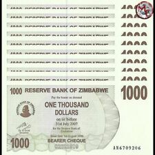 Zimbabwe - 1000 Dollars 2006 - Pick- 44 - Set 10 PCS - UNC