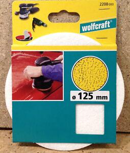 Wolfcraft Haft - Filzpolierscheibe fixoflex 125mm Schleifen Polieren 2208000