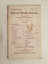 British Dental Journal Hanover Square February 15 n°4 1919