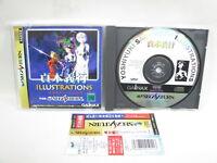 Sega Saturn YOSHIYUKI SADAMOTO ILLUSTRATIONS Evangelion * Japan Vidoe Game CD ss