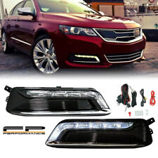 For 2014-2020 Chevy Impala Clear Factory Style LED Daytime Running Light DRL KIT
