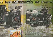 Publicité Advertising 1973 (Double page)  Appareil photo ASAHI PENTAX ES II