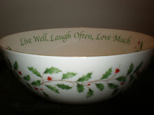 Lenox Holiday Live Well,Love Often, Love Much 68 Oz. Sentiment Serving Bowl Nwt