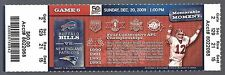 2009 NFL NEW ENGLAND PATRIOTS @ BUFFALO BILLS FULL UNUSED FOOTBALL TICKET