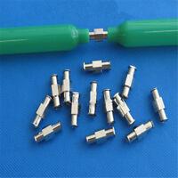 Luer Lock Adapter Coupler Female to Female Fitting Nickel Plated Syringe Medical