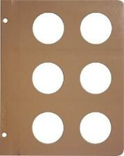 Dansco Coin Album Blank Page 48mm For Large Coins / Medals New Free Shipping