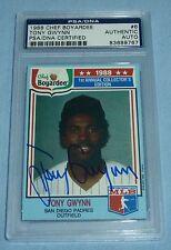 Tony Gwynn Signed 1988 Chef Boyardee Baseball Card #6 PSA/DNA COA Padres Auto'd