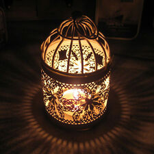 Creative Hollow Hanging Bird Cage Candle Holder Candlestick Lantern Bridal Decor