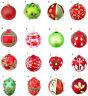 SELECTION GISELA GRAHAM RED GREEN BALL EGG BAUBLE CHRISTMAS TREE  DECORATION
