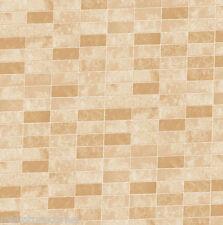 Dolls House Beige Wallpaper Kitchen Bathroom Quality Satin Pearl Paper #29