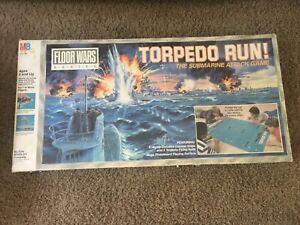 TORPEDO RUN Board game MILTON BRADLEY 1986 FLOOR WARS BOARD GAME Sub attack game