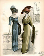 Ladies Vintage Edwardian Fashion Art Print 10x8 home decor
