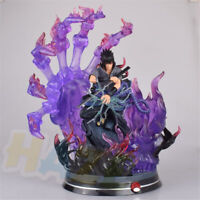 "Anime Naruto Uchiha Sasuke 13"" PVC Painted Figure Statue Model Toy New In Box"