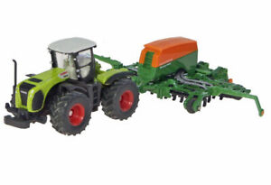 Claas Xerion 5000 Tractor with Amazone Cayena 6001 Seeder - 1/87 (HO) scale