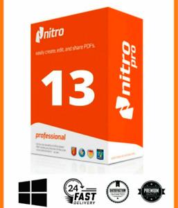 Nitro PDF PRO 13 entreprise 2020 ✅ LIFETIME ✅ PRE-ACTIVATED ✅